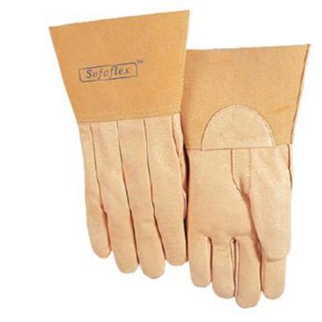 威特仕 焊接手套,10-2008-XL,氩弧焊TIG手套上等猪青皮中袖筒款