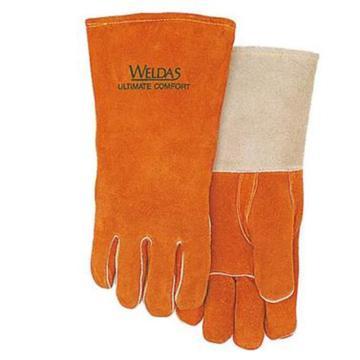 威特仕 10-0328L 烧焊手套,灰色袖直拇指款