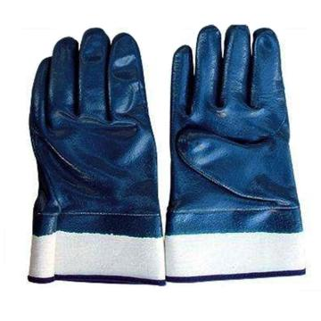 羿科 BN265S-9 蓝色丁腈全浸手套,安全袖口
