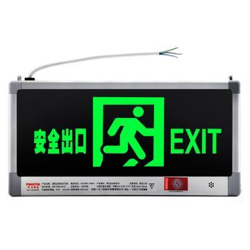 LED消防应急标志灯(安全出口)-LED光源,镍铬电池,外接220V电源,328×169mm,20130