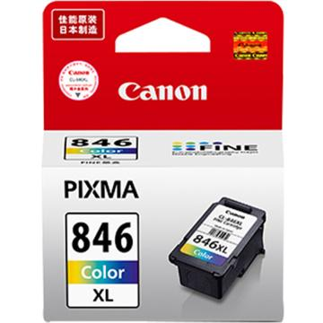 佳能(Canon)彩色墨盒, (适用MG3080、MG2580、MX498、iP2880)300页CL-846XL 单位:个