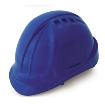 羿科 安全帽,60102802-B,AT60 ABS透气型安全帽 蓝色