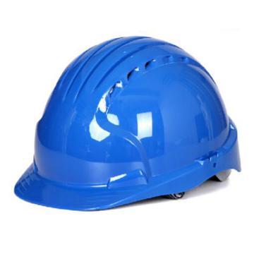 洁适比JSP 安全帽,01-9043,威力9 ABS T类安全帽 蓝色(内衬调整轮式)
