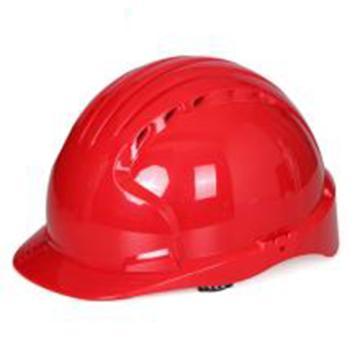 JSP 01-9015 威力9 ABS T类安全帽,红色(滑扣式)