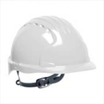 JSP 01-9012 威力9 ABS T类安全帽,白色(滑扣式)