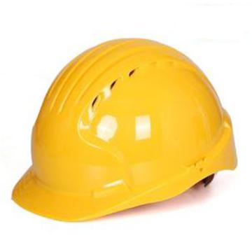 洁适比JSP 安全帽,01-9011,威力9 ABS T类安全帽 黄色(滑扣轮)