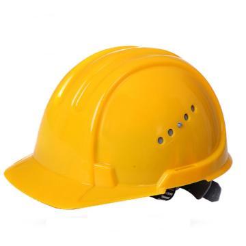 JSP 01-3031 欧文 PE安全帽,黄色(滑扣式)