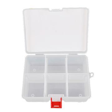 力易得 塑料零件盒,167×126×62mm,插片6格