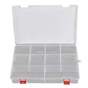 力易得 塑料零件盒,300×200×62mm,插片10格