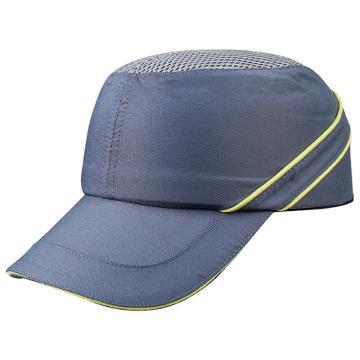 代尔塔102110-GR 透气型运动防撞帽,灰,帽檐7cm