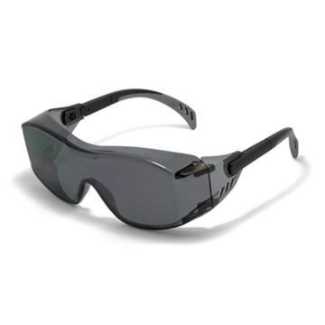 梅思安MSA 防护眼镜,10147395,安特-GAF 灰色防雾镜片,12副/盒