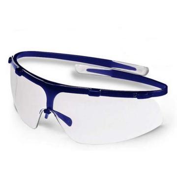 优唯斯UVEX 防护眼镜,9072211代替9172265,透明镜片 蓝色镜框防护眼镜