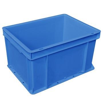 (全新料)周转箱,可堆叠周转箱, 600×400×280mm(蓝)