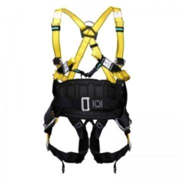 MSA 沃克曼全能型全身式带护腰安全带,中号,10106899