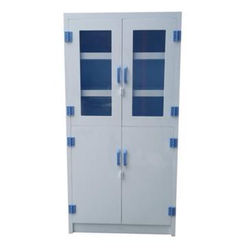 成霖 瓷白色强酸强碱PP柜,55加仑/208升,上下双门/手动,上部可视窗下部实心门,3层可调层板,1800×900×450mm