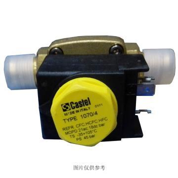 """常闭电磁阀SAE扩口接头(带线圈,膜片式),卡士妥,1020/2A6,1/4""""SAE接口"""