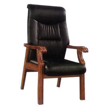 办公椅实木椅 韩皮 1150x670x700mm 限山西