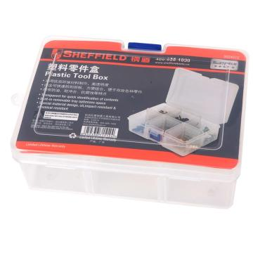 钢盾 塑料零件盒,167*126*62mm,6格,S024012