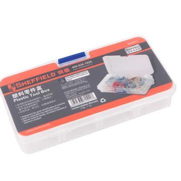 钢盾 塑料零件盒,140*75*27mm,8格,S024011