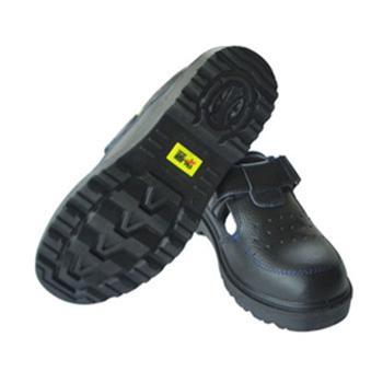 华昱 夏季安全鞋,HY0903-39,透气款牛皮安全鞋 防砸绝缘