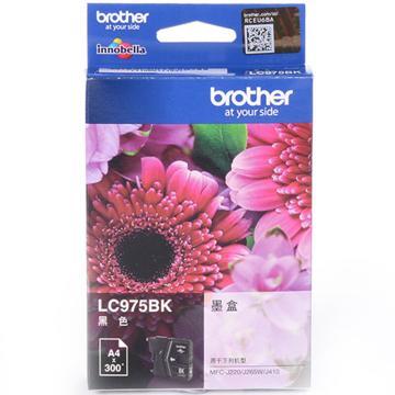 兄弟墨盒, LC975BK 黑色  (适用 MFC-J410、MFC-J220、MFC-J265W、300页)