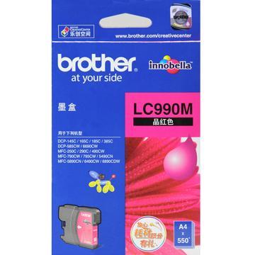 兄弟墨盒, LC990M 红色  (适用 DCP-185C/585CW/385C/165C/145C/MFC-790CW/490CW/290C/250C/DCP-6690/MFC-5890/6490/6890、550页)