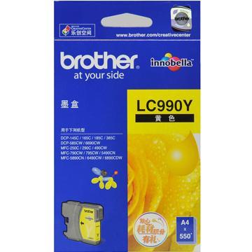 兄弟墨盒, LC990Y 黄色  (适用 DCP-185C/585CW/385C/165C/145C/MFC-790CW/490CW/290C/250C/DCP-6690/MFC-5890/6490/6890、550页)