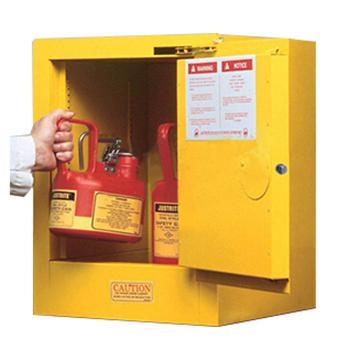 JUSTRITE/杰斯瑞特 黄色易燃液体存储柜,4加仑/15升,单门/自动,工作台式,8904201