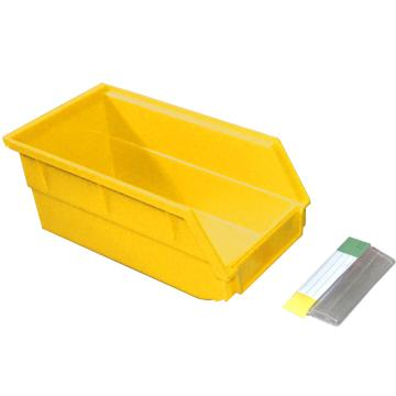 捷通 背挂式零件盒,140*220*125mm,全新料,12个/箱,BG-004(黄色)