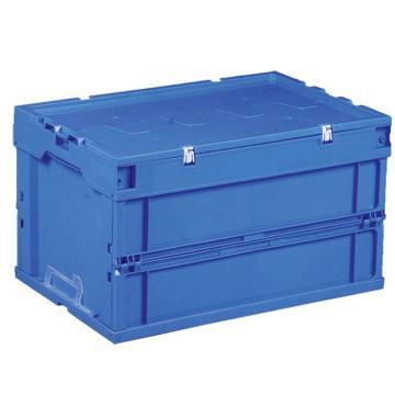 环球 可折叠周转箱,尺寸(mm):600X400X320,含盖子,蓝色