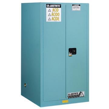 JUSTRITE/杰斯瑞特 蓝色弱腐蚀性液体存储柜,FM认证,60加仑/227升,双门/自动,8960221