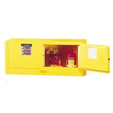 JUSTRITE/杰斯瑞特 黄色易燃液体存储柜,FM认证,12加仑/45升,双门/手动,背负式,8913001