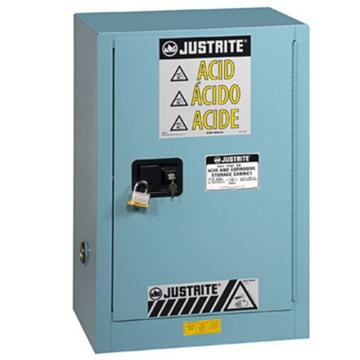 JUSTRITE/杰斯瑞特 蓝色弱腐蚀性液体存储柜,FM认证,12加仑/45升,单门/手动,紧凑式,8912021