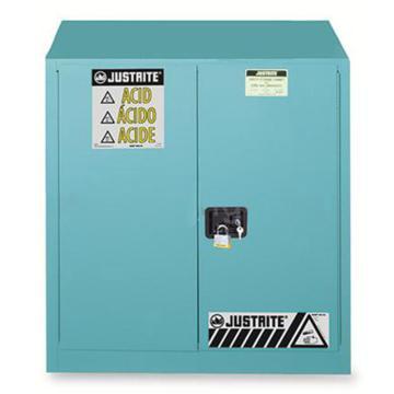 JUSTRITE/杰斯瑞特 蓝色弱腐蚀性液体存储柜,FM认证,45加仑/170升,双门/手动,8945021
