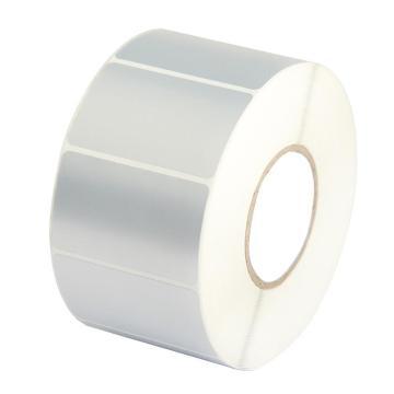 西域推荐 哑银PET标签,防水 防油 80mm*60mm单排-640张/卷 适用斑马GX430T 单位:卷