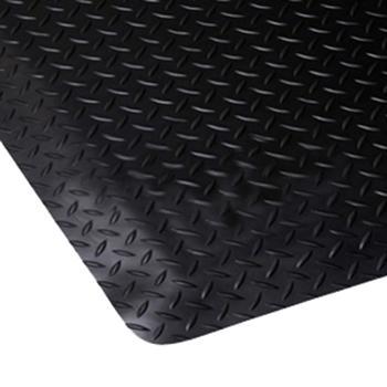 力九和 抗疲劳地垫,经济型地板纹抗疲劳地垫,黑色,0.9m*1.5m*12mm(宽x长x厚) 单位:个