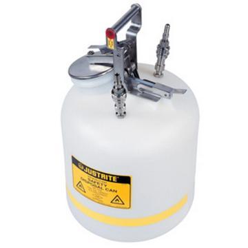 杰斯瑞特JUSTRITE HPLC安全处置罐,5加仑/19升,不锈钢1号2号接头,TF12755