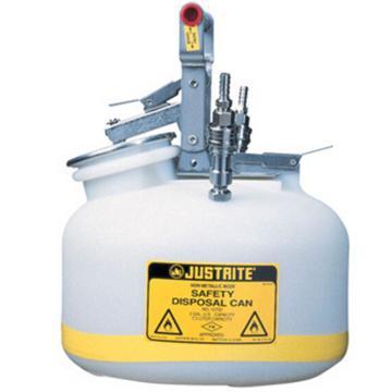 杰斯瑞特JUSTRITE HPLC安全处置罐,2加仑/7.5升,不锈钢1号2号接头,TF12752