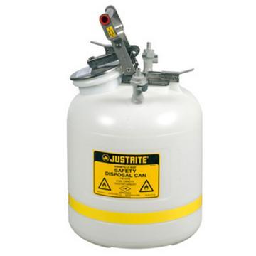 杰斯瑞特JUSTRITE HPLC安全处置罐,5加仑/19升,聚丙烯1号2号接头,PP12755