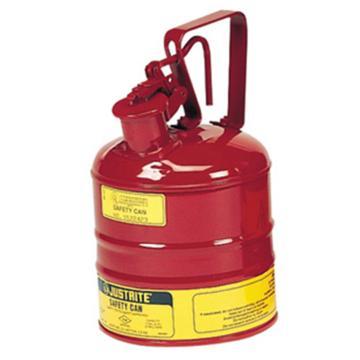 杰斯瑞特JUSTRITE Ⅰ型钢制安全罐-红色(释放扳柄),1加仑/4升,10301Z