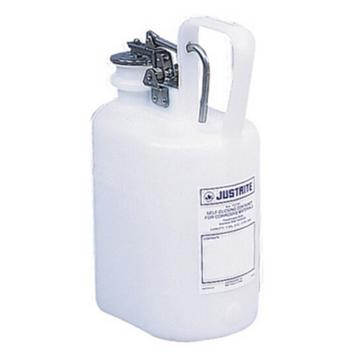 杰斯瑞特JUSTRITE 自动关闭式聚乙烯废物罐(配有不锈钢部件),1加仑/4升,12161
