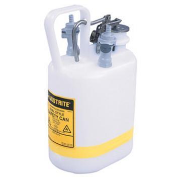 杰斯瑞特JUSTRITE HPLC安全处置罐,1加仑/4升,聚丙烯1号2号接头,12160