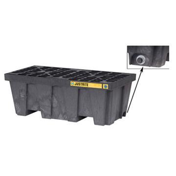杰斯瑞特JUSTRITE 2桶装可排水盛漏托盘,狭长形,28625