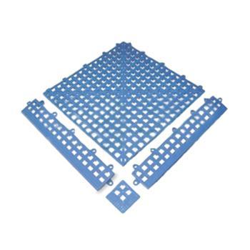 疏水地垫,防滑输水地垫,30*30cm,厚14mm,蓝色