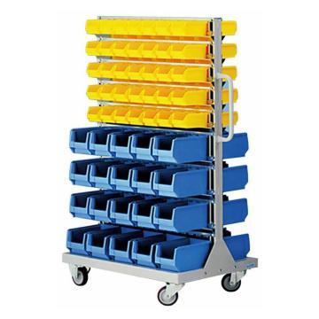 锐德 移动双面固定性零件盒挂架, 1170*550*1450mm,含零件盒: 56只ETT002+100只ETT001,KKM-02B,散件发货,安装费另询