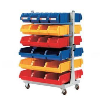 锐德 移动双面固定性零件盒挂架, 960*860*1560mm,含零件盒:36只ETT001+36只ETT002+24只ETT003,KKM-01B,散件发货,安装费另询