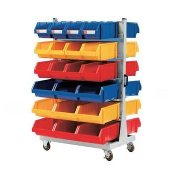 锐德 移动双面固定性零件盒挂架, 960*860*1560mm,含零件盒: 24只ETT004+18只ETT005,KKM-01A,散件发货,安装费另询