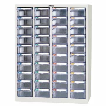 天钢 零件盒储存柜,H880×W600×D243mm,40个透明盒,木箱包装