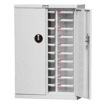 天钢 零件盒储存柜,H925×W640×D340mm,30个透明盒,木箱包装