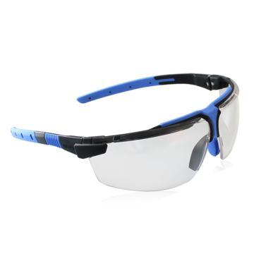 优唯斯UVEX 防护眼镜,9190275,透明镜片,石墨/蓝色镜框防护眼镜